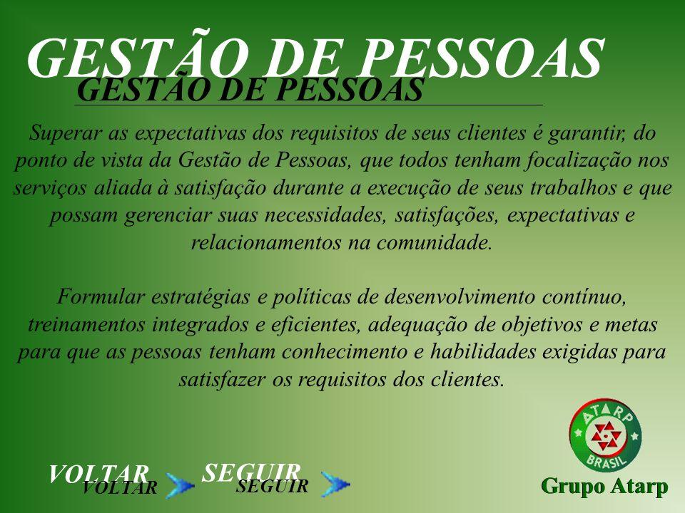 GESTÃO DE PESSOAS GESTÃO DE PESSOAS VOLTAR SEGUIR