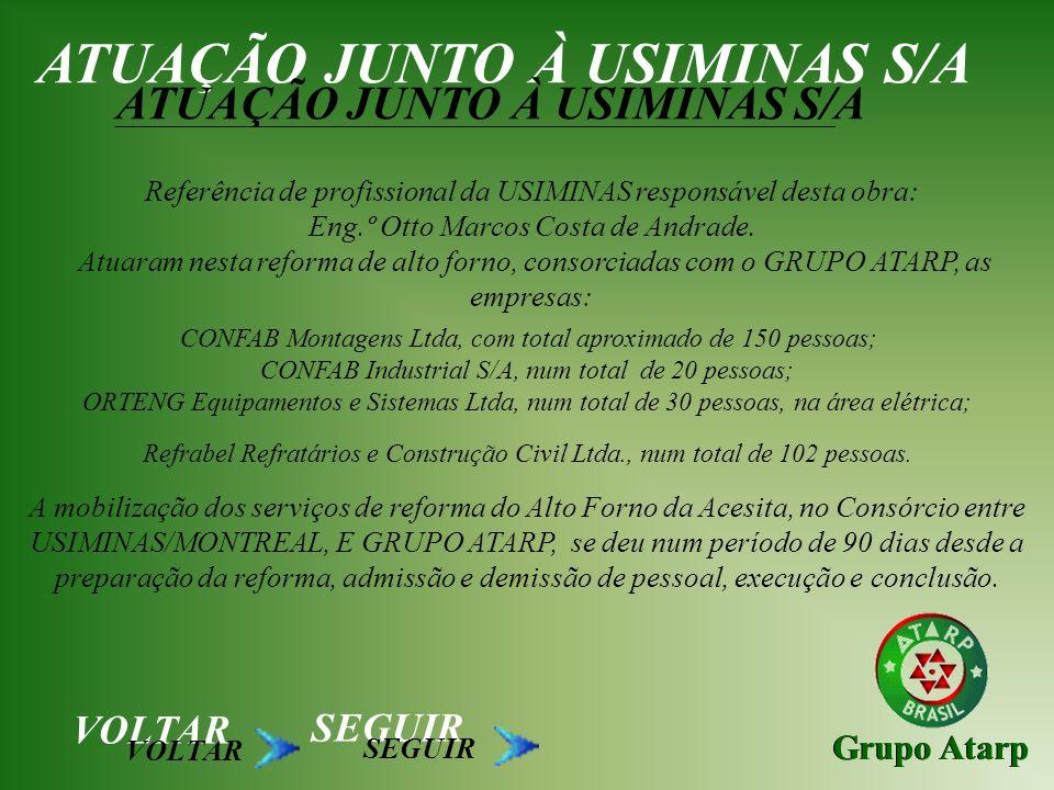 ATUAÇÃO JUNTO À USIMINAS S/A