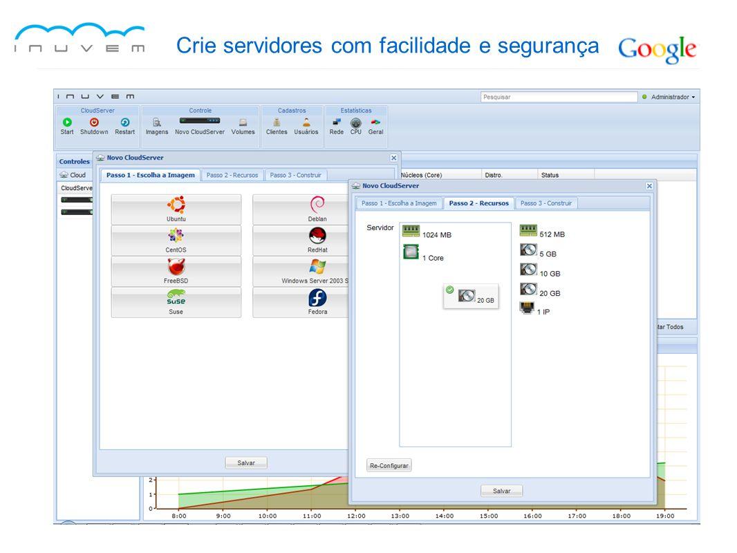 Crie servidores com facilidade e segurança
