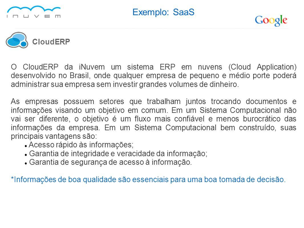Exemplo: SaaS CloudERP