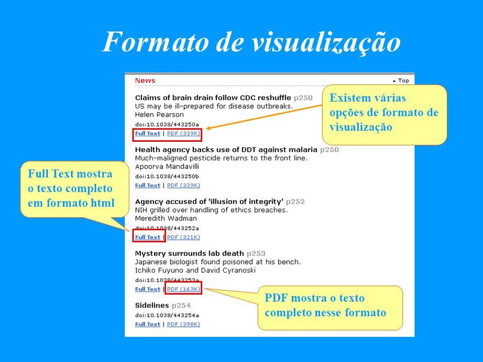 Formato de visualização