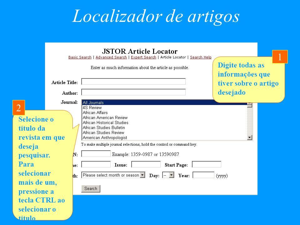 Localizador de artigos