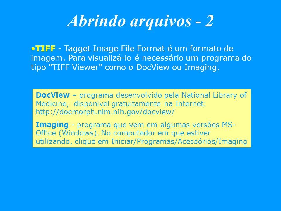 Abrindo arquivos - 2
