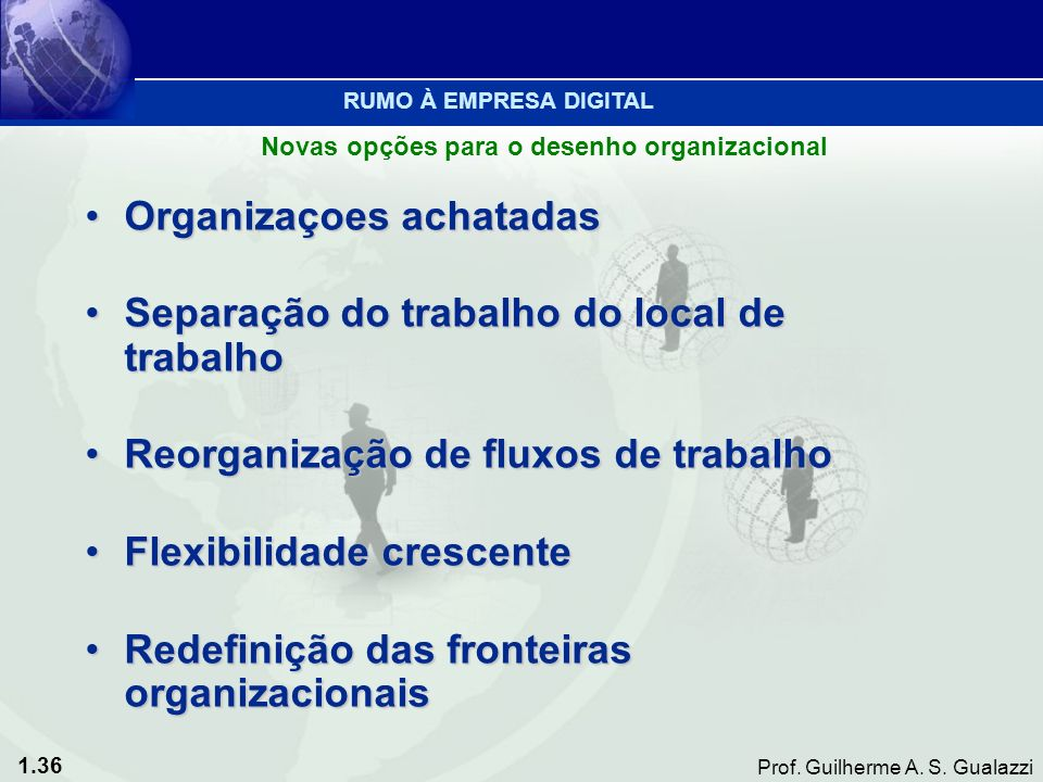 Organizaçoes achatadas Separação do trabalho do local de trabalho