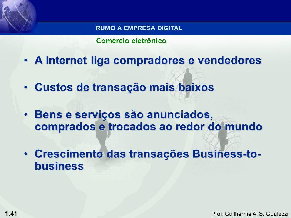 A Internet liga compradores e vendedores