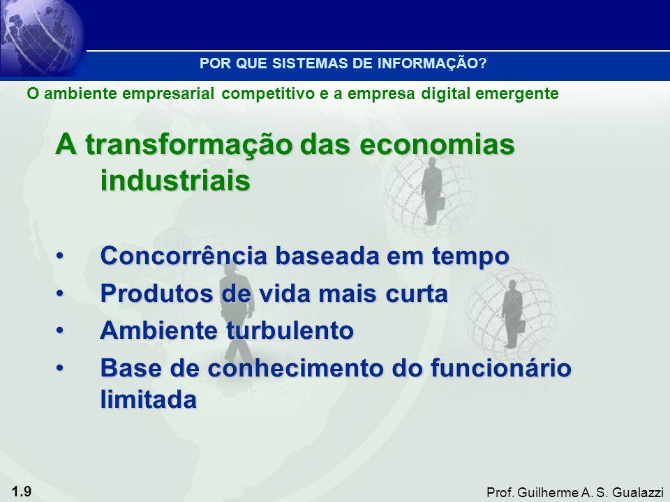 A transformação das economias industriais