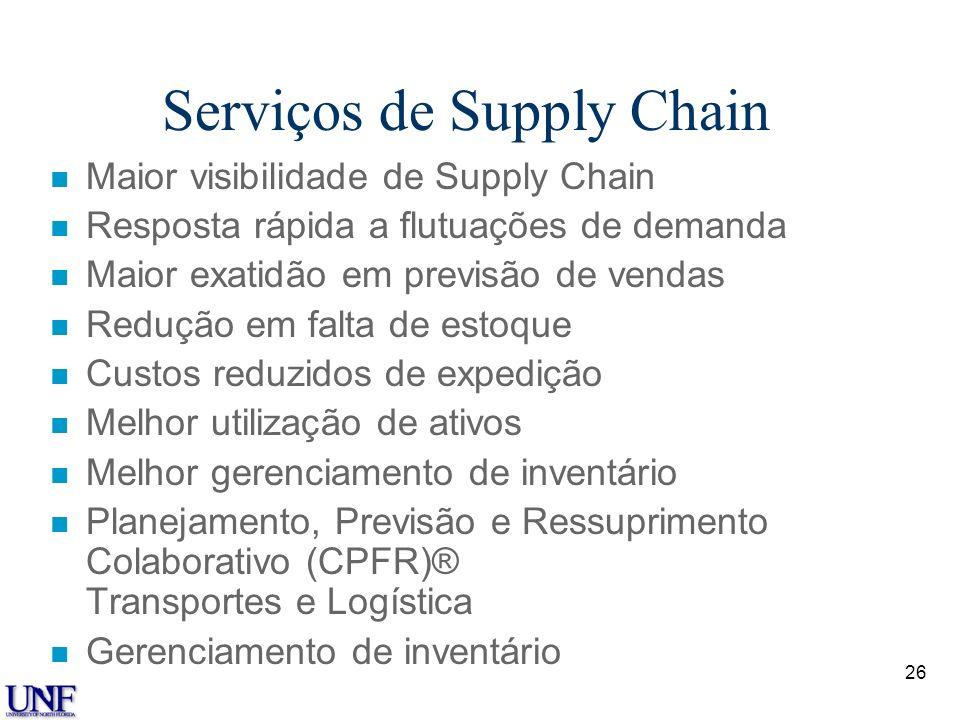 Serviços de Supply Chain