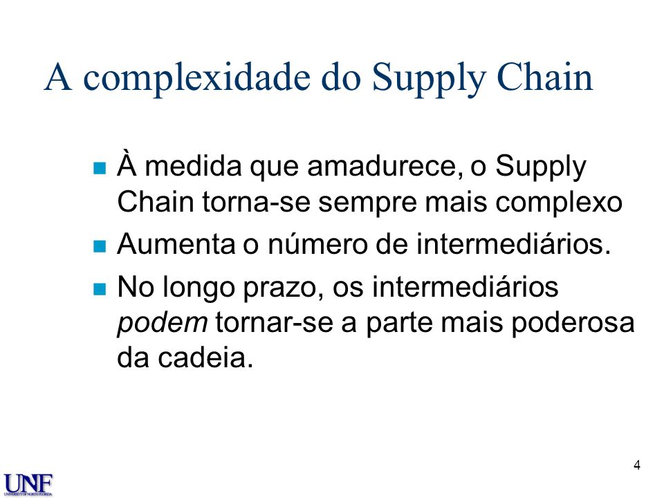 A complexidade do Supply Chain