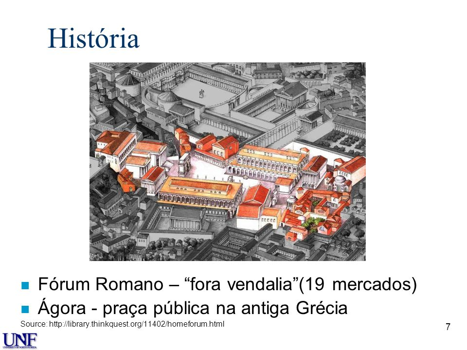 História Fórum Romano – fora vendalia (19 mercados)