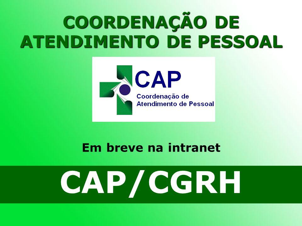 COORDENAÇÃO DE ATENDIMENTO DE PESSOAL