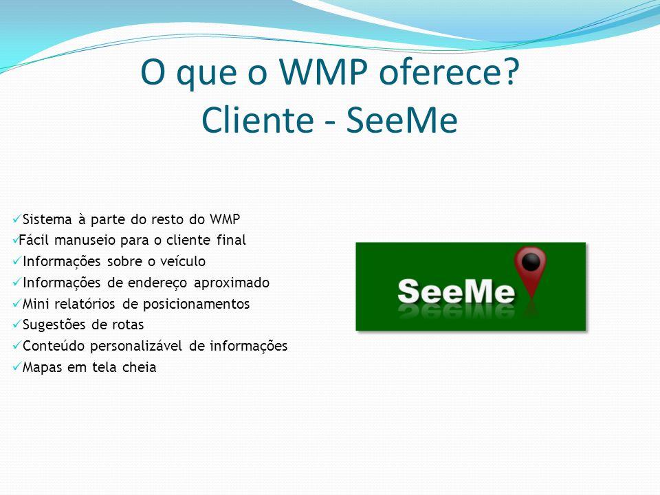 O que o WMP oferece Cliente - SeeMe