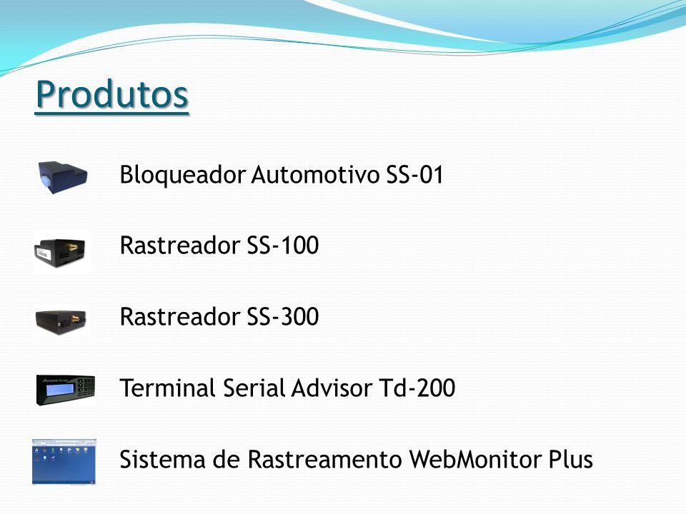 Produtos Bloqueador Automotivo SS-01 Rastreador SS-100 Rastreador SS-300 Terminal Serial Advisor Td-200 Sistema de Rastreamento WebMonitor Plus