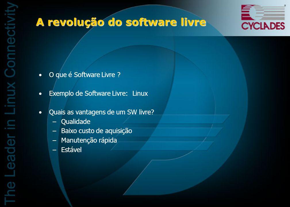 A revolução do software livre