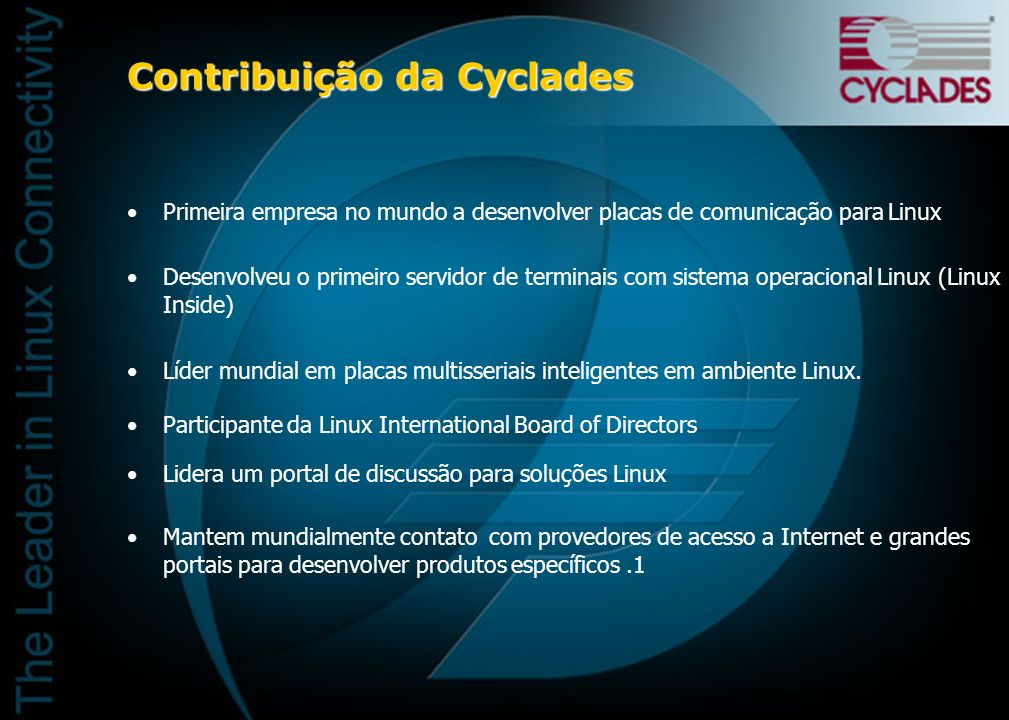 Contribuição da Cyclades