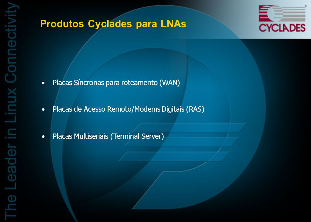Produtos Cyclades para LNAs