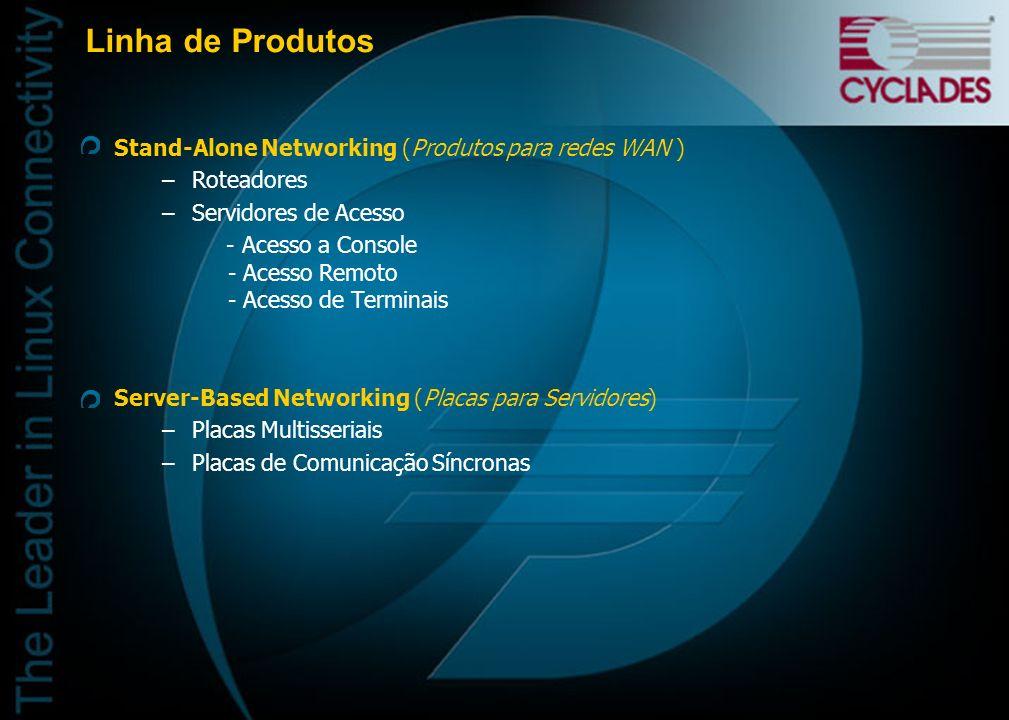 Linha de Produtos Stand-Alone Networking (Produtos para redes WAN )