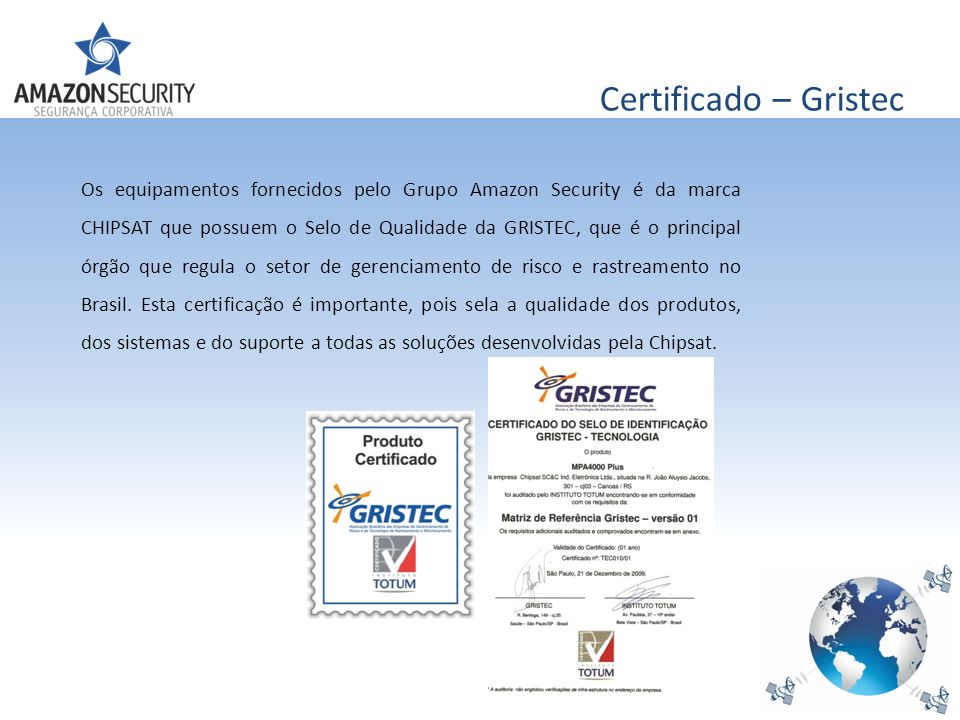 Certificado – Gristec