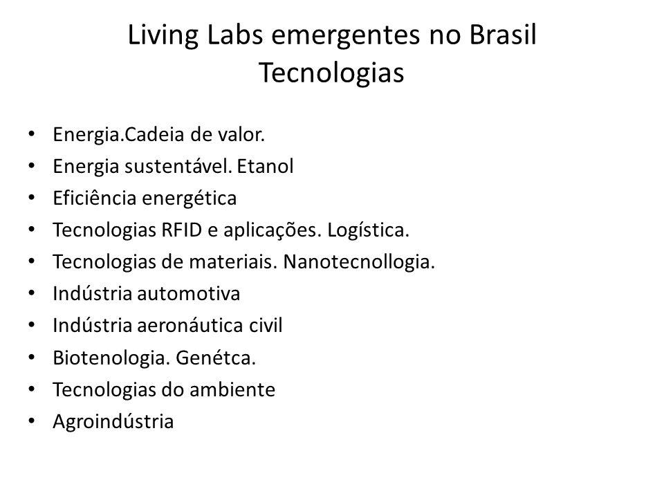 Living Labs emergentes no Brasil Tecnologias