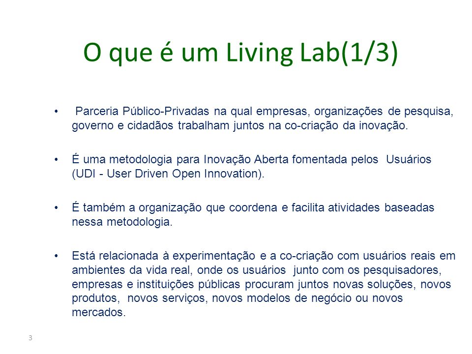 O que é um Living Lab(1/3)