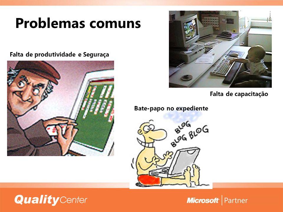 Problemas comuns Falta de produtividade e Seguraça