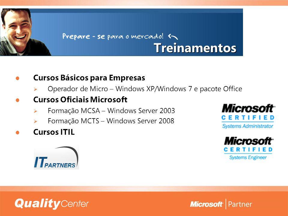 Treinamentos Cursos Básicos para Empresas Cursos Oficiais Microsoft