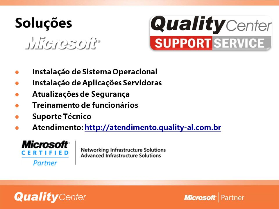 Soluções Instalação de Sistema Operacional