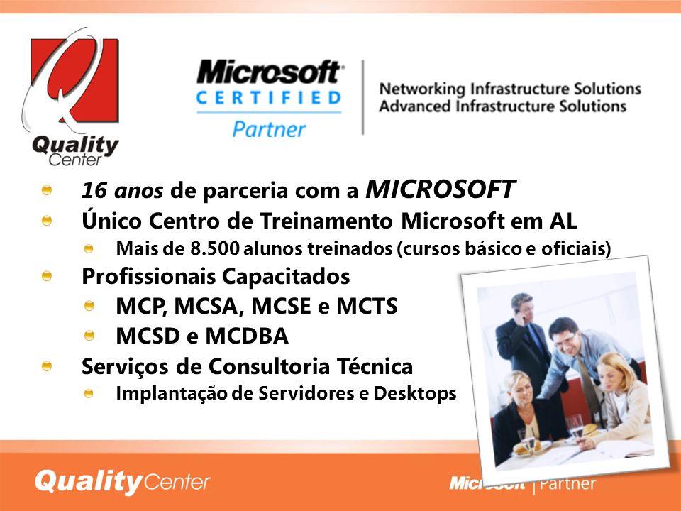 16 anos de parceria com a MICROSOFT