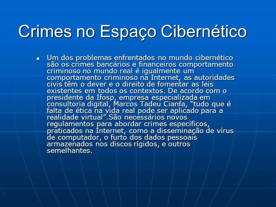 Crimes no Espaço Cibernético