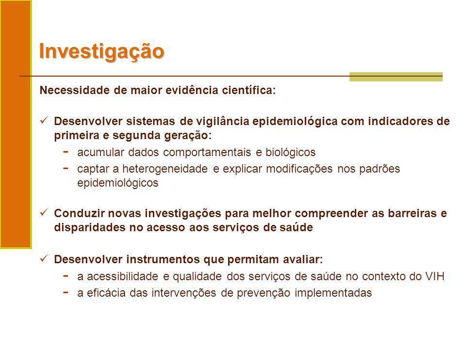 Investigação Necessidade de maior evidência científica:
