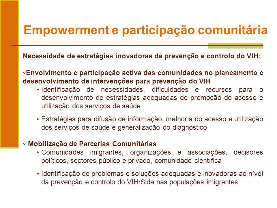 Empowerment e participação comunitária