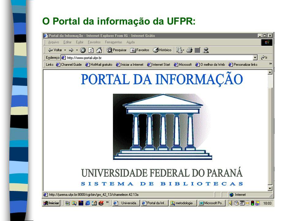 O Portal da informação da UFPR: