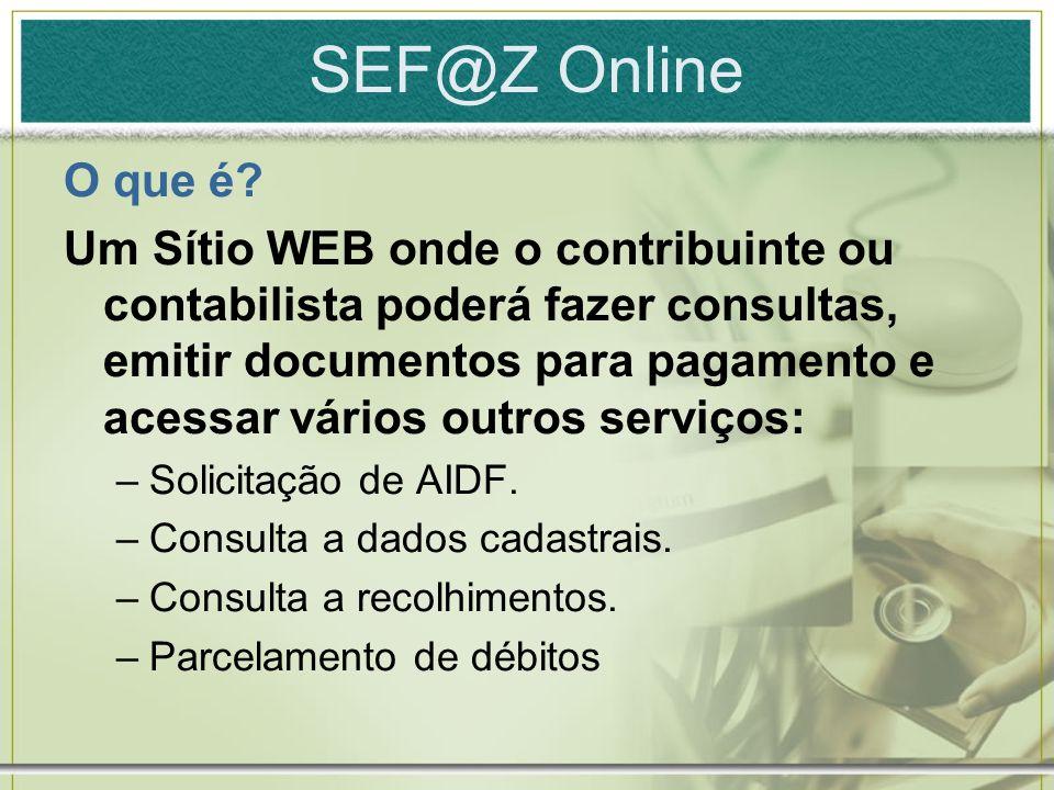 SEF@Z Online O que é