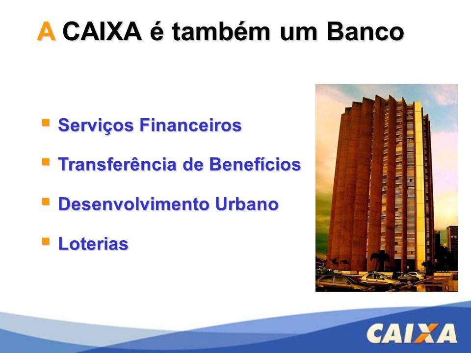 A CAIXA é também um Banco