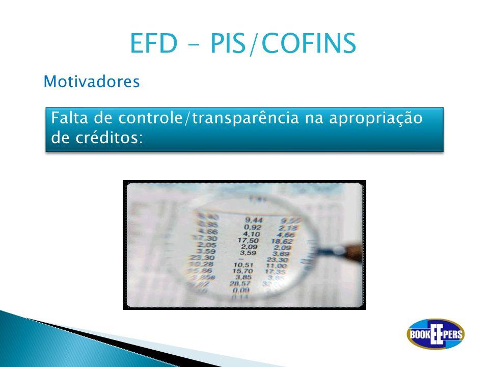 EFD – PIS/COFINS Motivadores