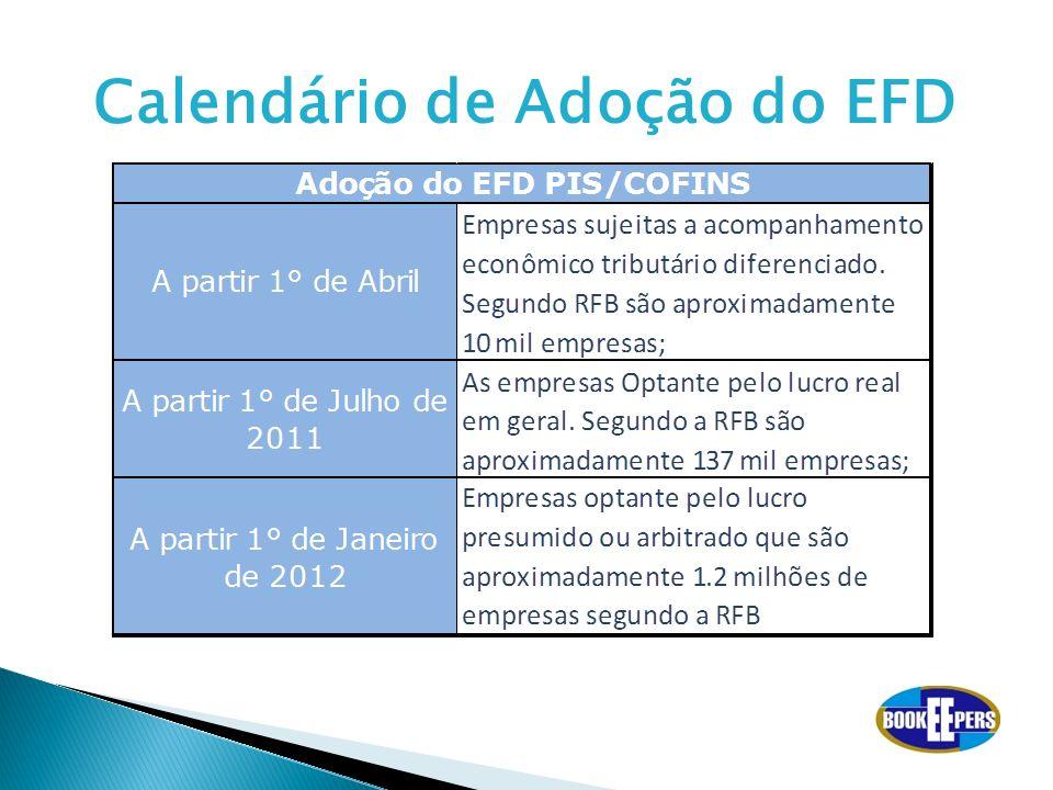 Calendário de Adoção do EFD