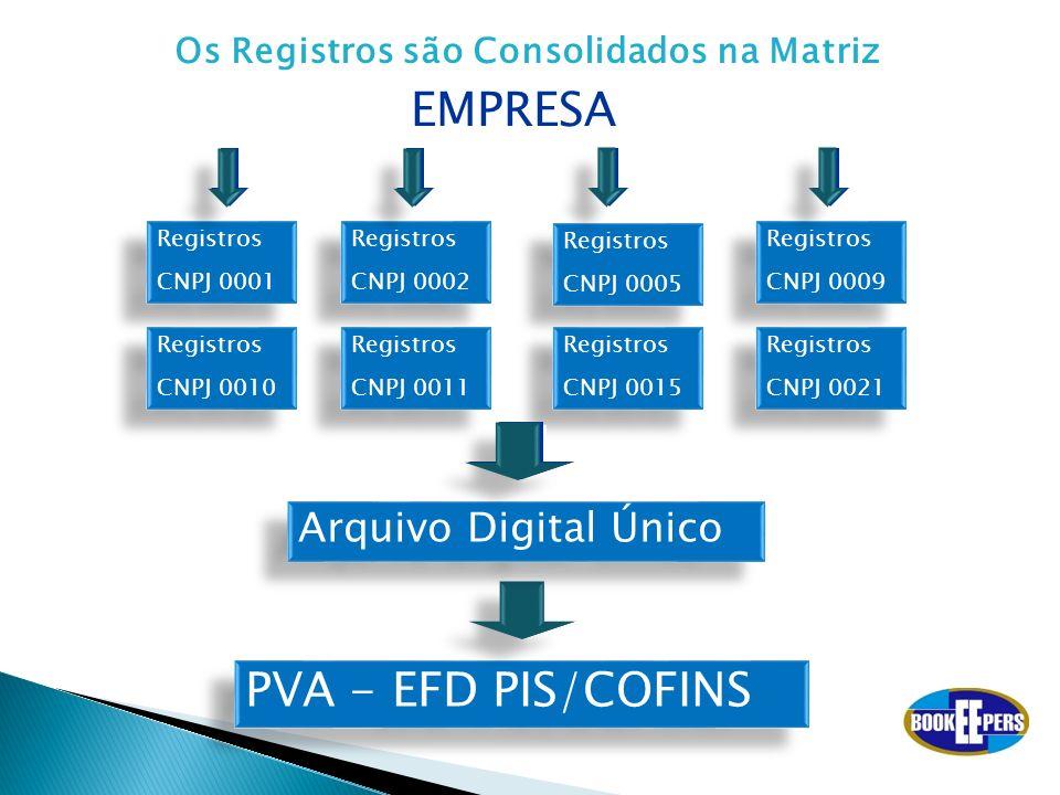 EMPRESA PVA - EFD PIS/COFINS Arquivo Digital Único
