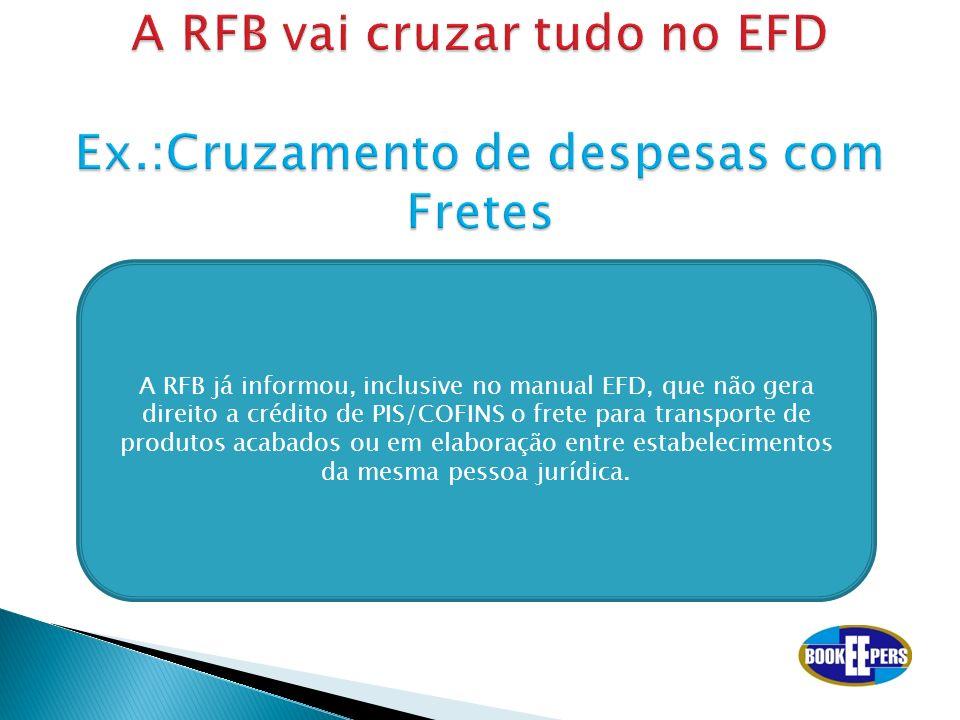 A RFB vai cruzar tudo no EFD Ex.:Cruzamento de despesas com Fretes