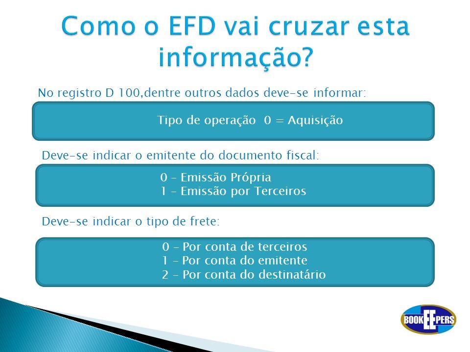 Como o EFD vai cruzar esta informação
