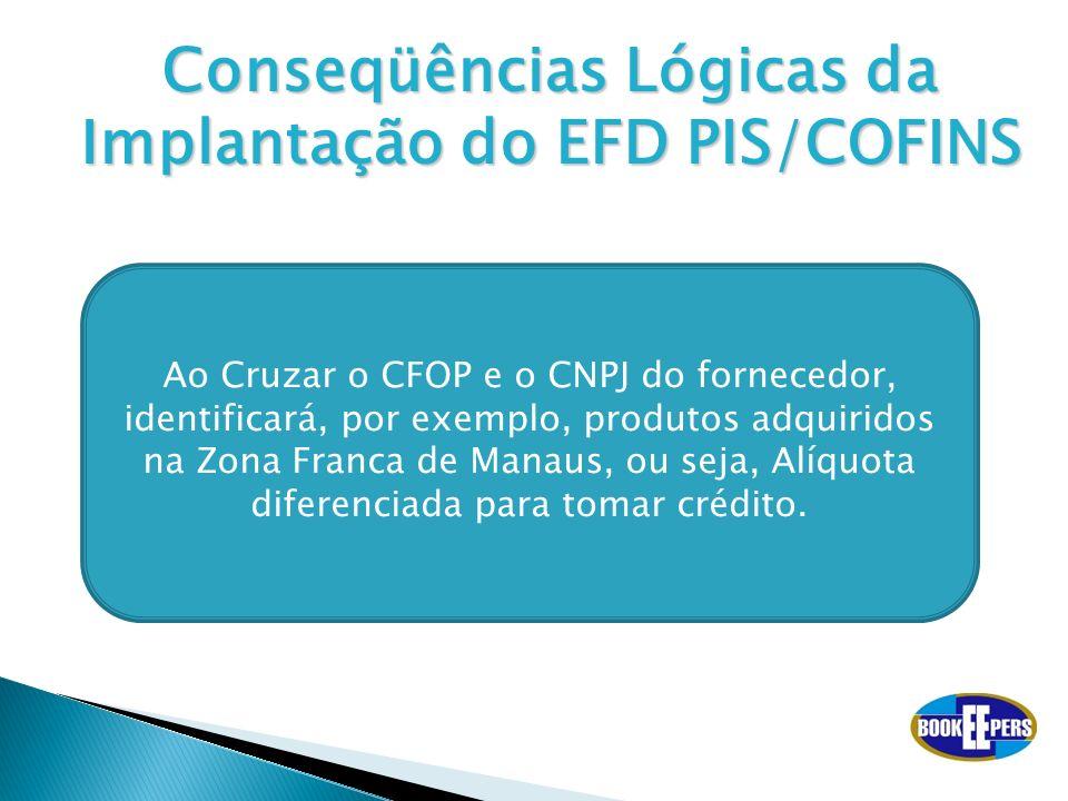 Conseqüências Lógicas da Implantação do EFD PIS/COFINS