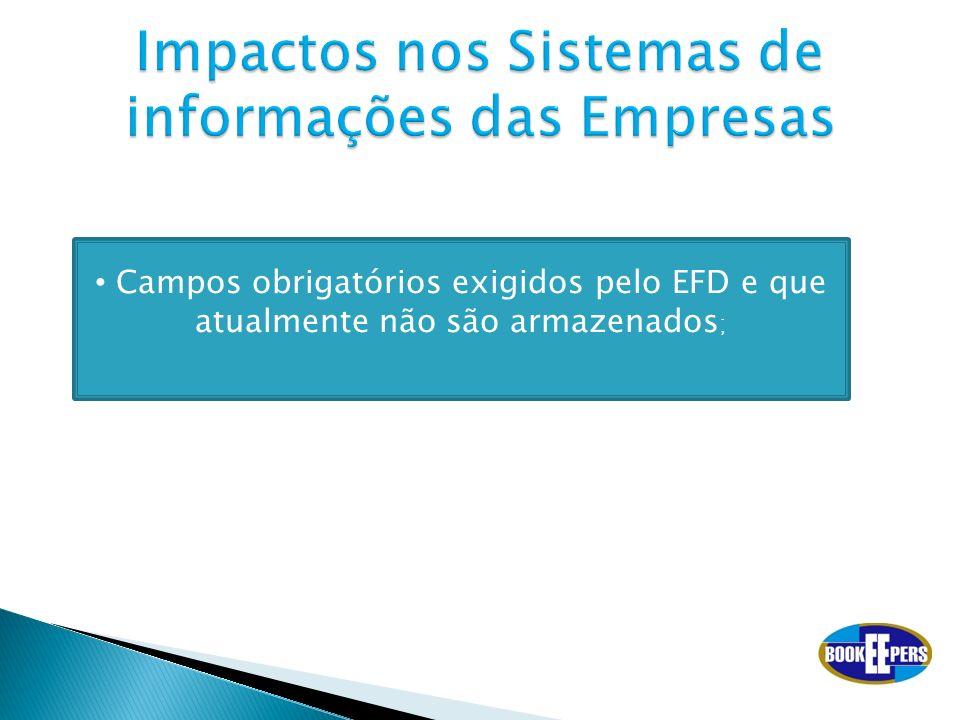 Impactos nos Sistemas de informações das Empresas