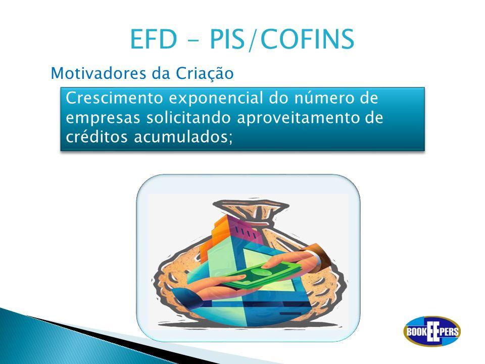 EFD – PIS/COFINS Motivadores da Criação