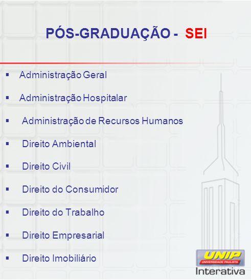 PÓS-GRADUAÇÃO - SEI Administração Geral Administração Hospitalar