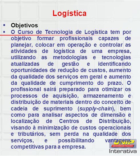 Logística Objetivos.