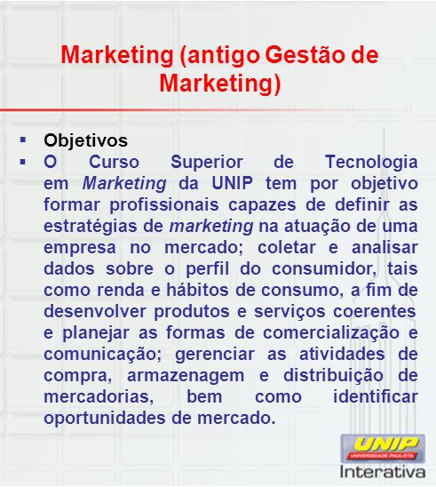 Marketing (antigo Gestão de Marketing)
