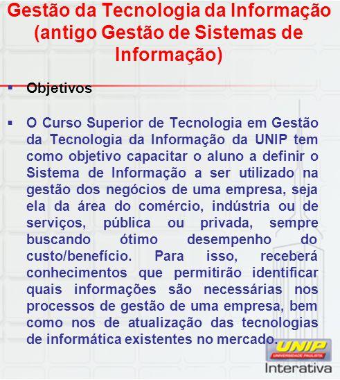 Gestão da Tecnologia da Informação (antigo Gestão de Sistemas de Informação)