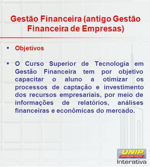 Gestão Financeira (antigo Gestão Financeira de Empresas)