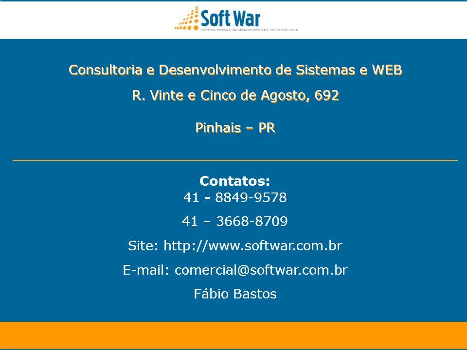 Site: http://www.softwar.com.br E-mail: comercial@softwar.com.br
