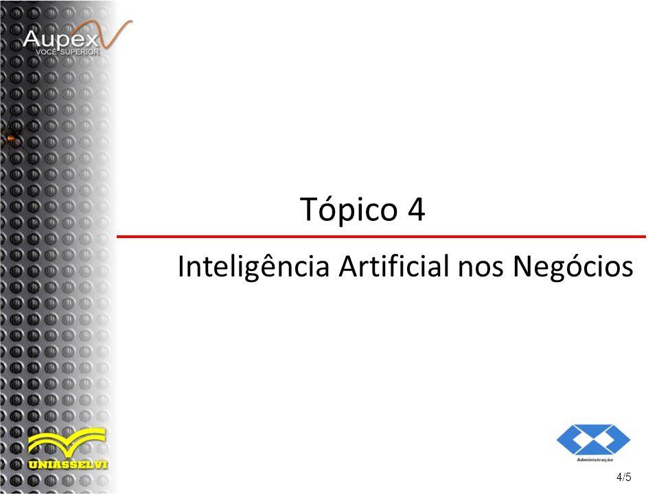 Tópico 4 Inteligência Artificial nos Negócios 4/5