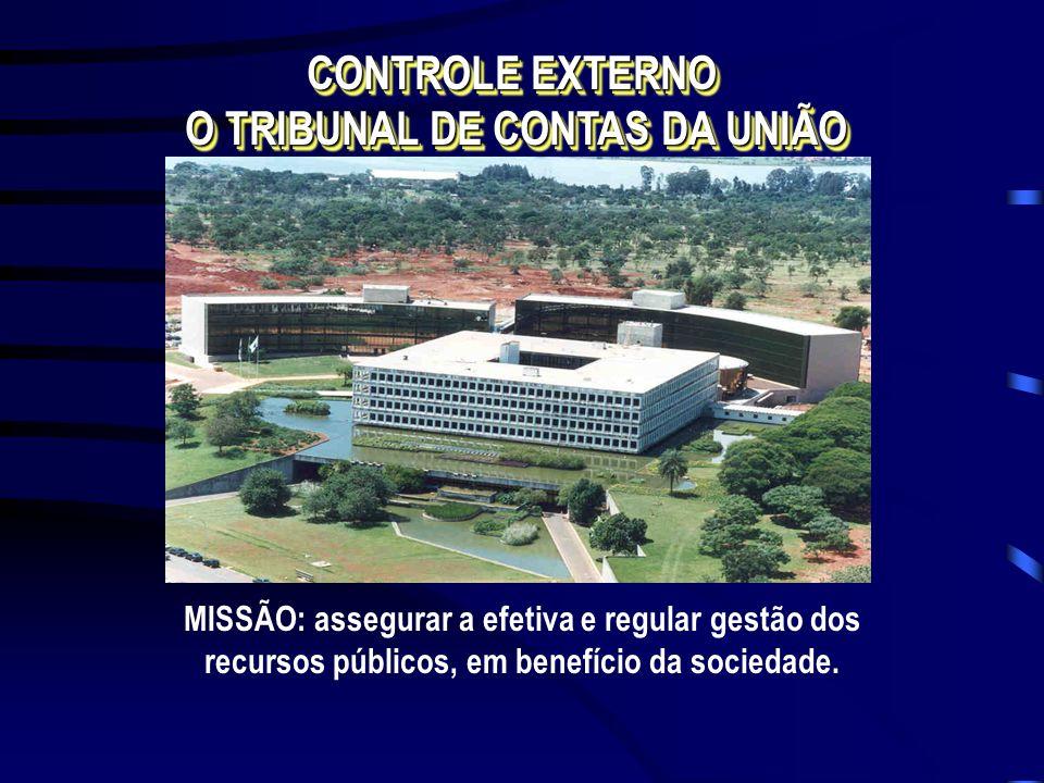 CONTROLE EXTERNO O TRIBUNAL DE CONTAS DA UNIÃO