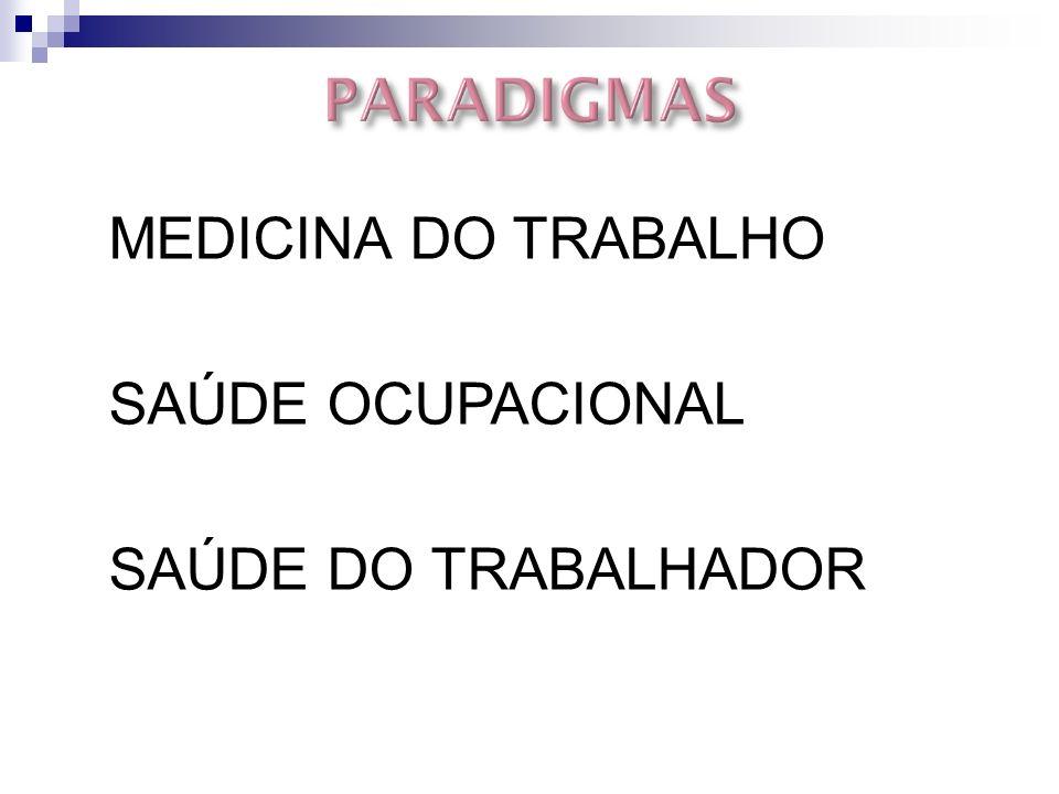 MEDICINA DO TRABALHO SAÚDE OCUPACIONAL SAÚDE DO TRABALHADOR